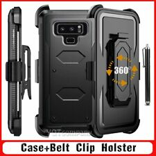 For Samsung Galaxy Note 8 Shockproof Hybrid Hard Case Cover W/Belt Clip Holster