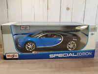 Maisto Bugatti Chiron Sport 1:18 Scale Diecast Model Car Blue 31712