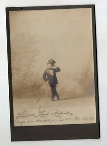 Vintage Cabinet Card Little Lord Roberts, Sideshow, Freak
