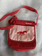 "Raspberry & Pink Horse Shoulder Bag 10"" x 9.5"" Approx Adjustable Shoulder Strap"