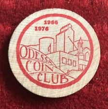 Vintage Small Town Odessa Coin Club 1976
