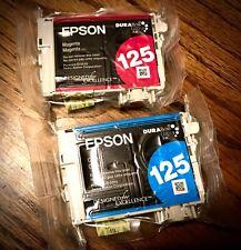 Epson 125 (T1252 & T1253) DURABrite Ultra Cyan & Magenta Ink Cartridges - SEALED