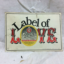 Vintage Stroh's Sticker Label of Love Advertising