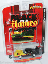Black with Flames - 1969 DODGE CHARGER DAYTONA - 1:64 Johnny Lightning
