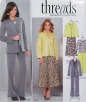 Misses 8-16 Jacket Top Skirt Pants Simplicity 1944 Pattern Threads Collection