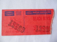 BEACH BOYS Original 1976 CONCERT TICKET STUB - Madison Square Garden__EX