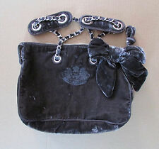 Juicy Couture Bag Gray Velvet Bow Scottie Dogs Tote NEW $248 retail