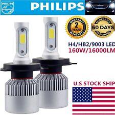 2X Philips H4 160W 16000LM HI-LO BEAM CREE LED HEADLIGHT HB2 9003 6500K WHITE C