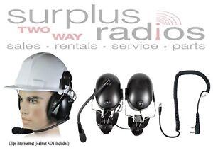 Construction Hard Hat Headset Kenwood TK3230 TK3312 TK2312 NX320 NX220 TK3402