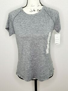 Champion C9 Duo Dry Everyday Women's Black Heather Cloud Knit Athletic Shirt New