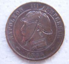 Pièce en bronze  10 Cts NAPOLEON III ( Satirique ) 1854 .