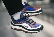RARE NIKE AIR MAX 98 MEN'S TRAINERS UK 8 EU 42.5 GUNSMOKE/TEAM ORANGE 640744012