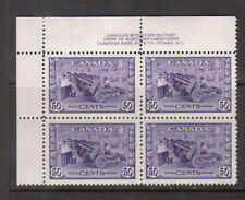 Canada #261 Very Fine Never Hinged Plate #1 UL Block