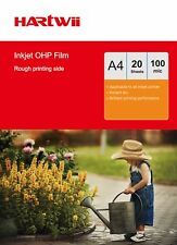 20 Sheet Overhead Projector OHP Film Acetate Clear A4 with Strip For Inkjet Ink