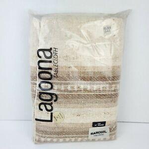 "Vintage Bardwil Fine Linens Lagoona Tablecloth 70"" Round Autumn Spring USA New"