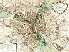 Plan de Mapa De Paris Francia nuevo cartel de Impresión Arte Fino Imagen 30x40 CMS CC3835