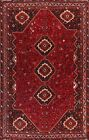 Vintage Geometric Traditional Oriental Area Rug Hand-knotted Wool Carpet 7x10 ft