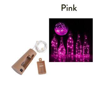 10 20 30 LED Copper Wire String Light Cork Shaped Wine Bottle For Xmas Decor RH4