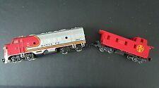 Vintage 2 Pieces-Bachmann HO Santa Fe 307 Diesel Engine Train And Caboose