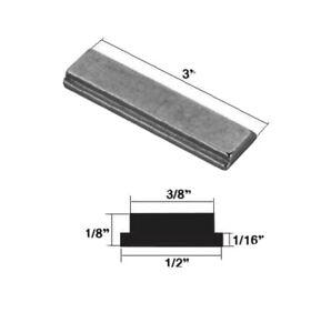 """Shower Door Strike Jamb Magnet for Swing Shower Doors - 3"""" long"""