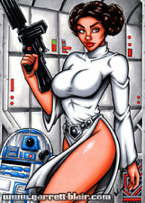PRINCESS LEIA Slave Bikini ANH Sith STAR WARS Art MINI-PRINT 3-PK Garrett Blair
