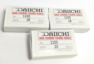 BIG EYE DAIICHI 1100 WIDE GAPE DRY FLY HOOK 100 PACK FLY TYING HOOKS #16 #18 #20