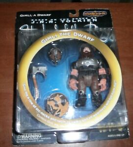 1999 Toy Vault Middle Earth Toys Lord of the Rings Gimli In Battle Action Figure