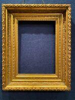Antique 19th Century Lemon Gold Gilt Picture Frame Wood Gesso Fine Art ORNATE