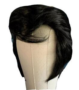 ELVIS WIG & SIDEBURNS - 70's Concert Years. ETA WIGS TRIBUTE HAIR, MEMPHIS