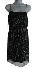 KOOKAI Women's Black & White Floral Strappy Silk Mini Dress. Size UK 10, EU 38.