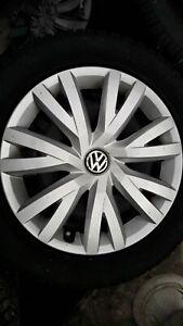 VW Golf 7, 4 Winterkompletträder auf Stahlfelge 205/55 R16 91 T, ET 48 (13)