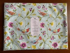 Collier Campbell London Mint Green Singing Birds Placemats 13x18 Set Of 4