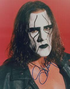 Wrestler STING signed Autographed 8X10 PHOTO - nWo WCW WWE AEW Steve Boarden COA