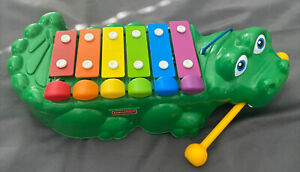 Fisher Price Crocodile Xylophone/ Piano & Pull Along Croc 3 In 1 Toddlers Toy