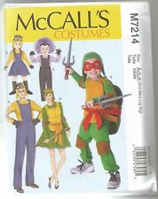 McCalls Sewing Pattern 7214 Character Costumes TMNT Child 3 - 8