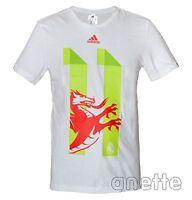 adidas REAL MADRID Football Mens T-Shirt Cotton Gareth Bale 11 Welsh Dragon BNWT