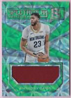 ANTHONY DAVIS 2017-18 SPECTRA SPECTACULAR SWATCHES NEON GREEN PRIZM JERSEY #/25