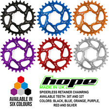 Hope Spiderless Retainer Ring Chainring - 30T and 32T - All Colors - Brand New