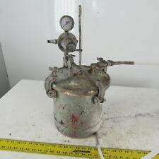 Industrial 2 12 Gallon Steel Pressure Pot Tank Pressurized Paint 80psi