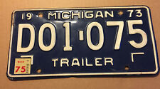 1975 MICHIGAN LICENSE PLATE EXPIRED D01 075