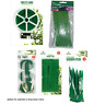 Garden Plastic Plant Cable Reuseable Ties Velcro Strap Twistee Wire Net Pegs
