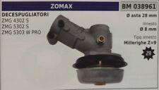 COPPIA CONICA DECESPUGLIATORE ZOMAX ZMG 4302S 5302S 5303W ASTA Ø28 MILLERIGHE Z9