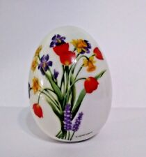 Vtg 1988 Avon Collectible Porcelain Egg Spring'S Brilliance By E Hoffmann