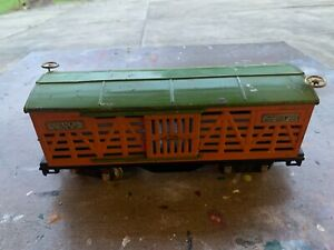 Lionel Standard Gauge - 513 Orange Cattle Car