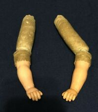 Great Pair of Antique Celluloid Doll Arms for Leather Body