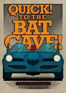 DC Comics Metall-Poster Gotham City Motor Club Batmobile 1966 68 x 48 cm