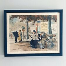 GASTON LE BEUZE (c.1890-1960) SIGNED FRENCH WW2 PERIOD 1941 Watercolor Painting