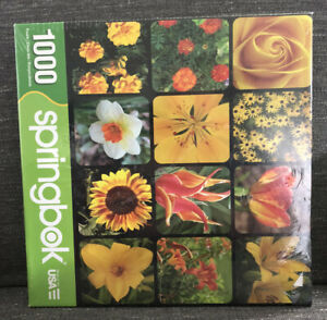 Springbok 1000 Piece Jigsaw Puzzle Golden Blooms New Sealed Tear In Plastic USA