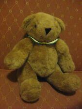 """Vermont Teddy Bear Co. 12"""" Plush Bear with a Collar, Vgc!"""