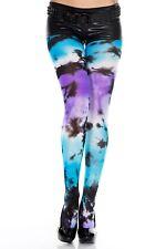 Multicolor Tie-Dye Diseño Oscuras Nailon Sexy Medias de Moda P37014
